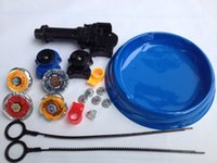 Wholesale Beyblade Plastic Tips - free shipping beyblade set(4 beyblades+2 launchers+4 tips+2 bolts +1grip+1arena)beyblade with arena as children gift