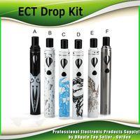 Wholesale Electronic Cigarette Vw - Authentic ECT Drop Starter kit with 2.0ml vaporizer 2200mah battery electronic cigarette VW 10W-20W-40W all-in-one pen 100% Genuine 2237003