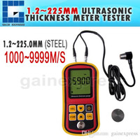 Wholesale TM Portable Ultrasonic Thickness Meter Tester Gauge Metal and Non Metal m s Velocity Measurement