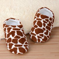 Wholesale Unisex Bedroom Slippers - Wholesale-Leopard Cotton Adults Winter Bedroom Indoor Slipper Warm Plush Home Shoes Pantufas Pantufa Soft Sole Floor Shoes House Slippers