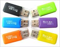 lecteur de carte sd m2 achat en gros de-Lecteur de carte haute vitesse USB 2.0 Micro SD card Adaptateur de lecteur de mémoire T-Flash TF M2 2 Go 4 Go 8 Go 16 Go 32 Go 64 Go Carte TF DHL Livraison gratuite MQ1000