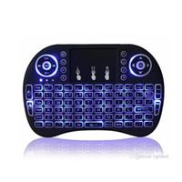 mouse minix venda por atacado-Nova Fly Air Mouse 2.4G Mini Teclado Sem Fio i8 Com Luz de Fundo Azul Verde Vermelho Azul Controle Remoto Para MXQ M8S MiniX Neo