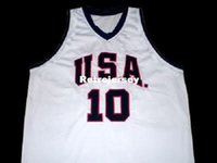 Mens economici KOBE BRYANT TEAM USA JERSEY BIANCO NEW ANY SIZE XS - 5XL Retro Basketball Maglie