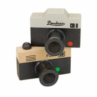 Wholesale Camera Stamps - Wholesale- 1pc Creative 2 Models 2 Colors Lovely Korea Retro DIY Stamp Mini Seal Lovely Decoration Crude Wood Photo Camera Stamp Signet