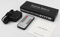 interruptores de matriz al por mayor-Distribución de audio Toslink Matrix SPDIF / TOSLINK Audio digital óptico Matriz verdadera 4x4 con control remoto Divisor de interruptor toslink de 4 entradas y 4 salidas