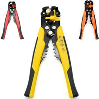 Wholesale Wire Cutter Crimper Pliers - Cable Wire Stripper Cutter Crimper Automatic Adjustable Multifunctional Terminal Crimping Stripping Plier Tools wire cutters Electric