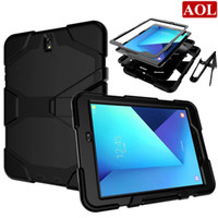 "Wholesale S3 Military Case - For Samsung Galaxy Tab S3 T820 T825 9.7"" Armor Case Shockproof Hybrid Impact Military Defender Protective Cover with screen protector"