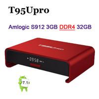 Wholesale wifi 5ghz - Amlogic S912 T95U PRO Android 7.1 Smart TV Box Octa Core 3GB 32GB 2.4 5GHz WiFi Bluetooth VP9 H.265 UHD 4K Smart Media Player