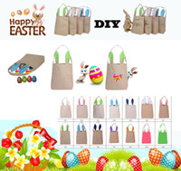 New Easter Day Bunny Ears Bolsas Moda Cartoon Rabbit Ears Designer Bolsas Para Mulheres Canvas Container Shopping Bags Gift