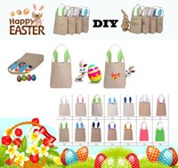 Discount wholesale shopping bag designer - New Easter Day Bunny Ears Tote Bags Fashion Cartoon Rabbit Ears Designer Handbags For Women Canvas Container Shopping Bags Gift