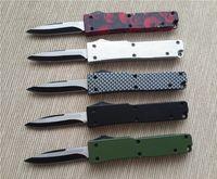Wholesale Christmas Gift Pocket Knife - 201503 New Mini pocket knife 440 blade 440 blade black Carbon fiber camouflage handle small EDC keychain knife 30g best christmas gift B20L
