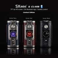 Wholesale Kevlar Wholesale - Original Limited Edition Kevlar Red Black Navy SXmini SX MINI G Class VAPE MOD FOR UWELL CROWN 3 CTHULHU AZATHOTH RDA GAIA RDTA