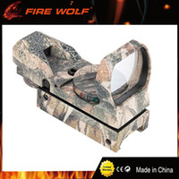 Wholesale Tactical Red Green Reflex Sight - FIRE WOLF Camouflage Hunting Tactical(on 20mm rail) 36mm 22mm Holographic Reflex 4 modes Red Green Dot Sight Scope