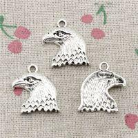 Wholesale Eagle Charm Antique - 52pcs Charms hawk eagle 21*19mm Antique Silver Pendant Zinc Alloy Jewelry DIY Hand Made Bracelet Necklace Fitting