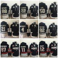 Wholesale Ice Hockey Hoodies - Mens' Patriotz Hoodies 11 EDELMAN 12 BRADY 4 PRESCOTT 21 ELLIOTT 87 GRONKOWSKI 22 E.SMITH 50 Lee 82 WITTEN 88 RYAN Hoodie Jerseys