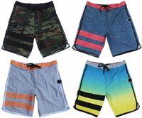 Wholesale Men Awesome - Wholesale-Elastic Fabric Mens Fashion Leisure Shorts High Qaulity Quick Dry Board Shorts Beachshorts Awesome Striped Bermudas Shorts BNWT