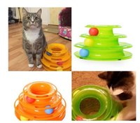 Wholesale Cat Pet Toy Intelligence Amusement Rides Shelf Three Levels Tower Tracks Disc