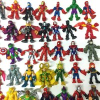 Promozione Regalo Xmas Pick Casuale 10X Playskool Marvel Super Hero Squad Spiderman Ironman Hulk Kid Giocattolo