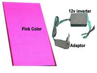 folha luminosa venda por atacado-Tamanho A4 Cor Rosa Luminescente Para Uv Levou Impressora Trajes de Halloween EL Backlight Folha Electroluminiscent Painéis Painel Luminoso