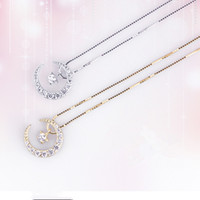 Wholesale Innovation Day - High-end elegant innovation Xingyue Ling dynamic necklace fashion 925 sterling silver necklace necklace pendant female jewelry