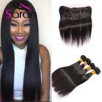 Wholesale Lace Closures Queen - 13x4 Lace Frontal With Bundles Brazilian Straight Hair Queen Hair Products Closure And Bundle Mink Brazilian Hair With Frontal