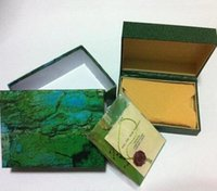 Wholesale Folded Paper Cards - High Quality Perpetual Brand Watch Box Papers File Card Green Gift Boxes Use President 116610 116660 116520 116710 116613 Watches