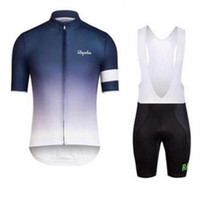 2017 Rapha Cycling Jersey Sets Bicyclette à manches courtes à manches courtes / Shorts Suit Summer Men's Cycling Clothing Ropa Ciclismo hombre E1801