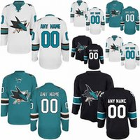 Wholesale Best Sewing - Factory Outlet Cheap San Jose Sharks Custom Blue White Black Sewing On Best Quality Customized Your Own Name Number Ice Hockey Jerseys