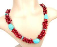 De boa qualidade Mulheres Hot Party Chokers Stement Handmade Strings Necklace Beads Imiatation Coral Charm Girl Necklace Collares Jewelry