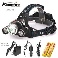 Wholesale Led Low Price - AloneFire HP83 good price 9000 Lumen 3T6 Boruit Headlamp Outdoor Light Head Lamp HeadLight Rechargeable for 2x 18650 Battery Fishing Camping