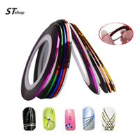 Wholesale Nail Striping Polish - Wholesale- 1 XNew Fashion 1mm 2mm 3mm Nail Rolls Striping Tape Line Decorations Nail Sticker DIY for Nail Art UV Gel Polish Tips NC124