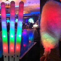 Hot 28 * 1.75CM Light Up Toys Party Cheer Led Light Stick Flash Glow Coton Candy Stick pour Vocal Concert Night Parties Stick livraison gratuite