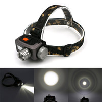Wholesale Headlamp Camera - HOT Sale Camera headlamp dual battery Led lighting Head Lamp LED Headlamp Headlight Camping Fishing Light