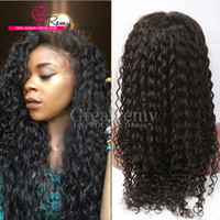 Wholesale Curly Full Lace Fronts - Cheap Brazilian Indian Deep Curl Remy Virgin Human Hair Lace Front Wigs for Black Women Greatremy Factory Outlet Full Lace Natural Hair