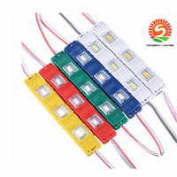 Wholesale Smd 12vdc - 1000X Super Bright 5730 SMD Cool White 3M tape LED Module 3LEDS lens Light Waterproof 12VDC injection molding Colorful cover