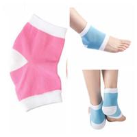 Wholesale Gel Spa Socks - Gel Heel Socks Moisturing Spa Gel Socks Feet Care Cracked Foot Dry Hard Skin Protector Heel Support 2pcs pair OOA2130