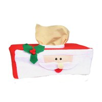 Wholesale 2016 New Christmas Supplies Xtmas Tissue Napkins Sets Of Red Belt Buckle Add Festive Atmosphere Santa Claus Box cover JF