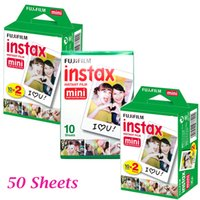 Wholesale Photo Paper Sheets - 50 sheet Fujifilm Instax Mini 8 film for Fujifilm Instant 9 7s 25 50s 90 Film Camera Fuji Instax White Edge Photo Paper