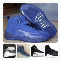 Vendita all'ingrosso Retro 12 Scarpe da basket Deep Royal Rising THE MASTER BLACK GOLD WOOL Scarpa sportiva Uomo Athletics OVO Wings Scarpe donna blu francese