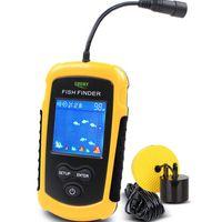 Wholesale Carp Fishing Free Shipping - Fish Finders Alarm 100M Portable Sonar LCD Fishing Lure Bait Echo Sounder Carp Fishing Finder Free Shipping