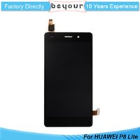 "Wholesale Touch Pannel - For Huawei P8 lite LCD Display Touch Screen Digitizer Pannel 5"" Pantalla Assembly Replacement Black White + Tools"