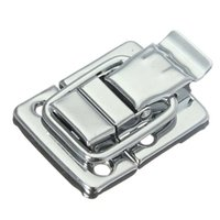 Wholesale Steel Suitcases - Stainless Steel Chrome Toggle Latch For Chest Box Case Suitcase Tool Clasp 43mm H144 Easy To Install