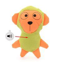 Wholesale large stuffed toy dogs - Pet Toys Amusing Plush Oxford Cute Monkey Shape Dog Toy Squeaky Durable Stuffed Dog Toy For Large Medium Dog Chew Relax Toy