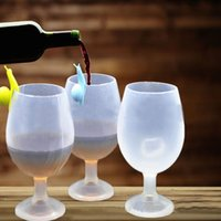 Wholesale Tools For Cutting Glass - Whiskey Goblet For Portable Silicone Wine Glass Travel Camping Picnic Cups Non Slip Durable Outdoor Drinking Tools 6fr C R