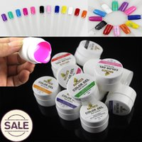 Wholesale Stamping Nail Art Color - Wholesale-Gel Nail Polish Gelpolish Vernis Pure UV Gel Color 12pcs Bling Paint For Nails Art Plate Stamping Esmalte Varnish Lacquer DIY