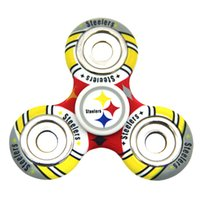 Plastique de football Prix-Equipe de football Fidget Spinner Plastic America Football Tri-spinner Famous Soccer Team Logo EDC Anti-stress Fidget Spinners Toy