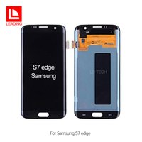 digitalizador lcd s6 edge al por mayor-Reemplazo de reparación original para pantalla LCD Asamblea de pantalla táctil digitalizador para Samsung Galaxy S7 Edge G935A G935V G935P G935T G935F