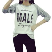 Wholesale Cheap Pullovers For Women - Wholesale- Women Casual Printed Long Sleeve Hoodie Jumper Pullover Sweatshirt Tops Shirts Cheap For Girls