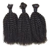 Wholesale bulk resale online - Human Hair Bulk For Braiding Hair Peruvian Virgin Afro Kinky Curly Top Quality Bulk Hair G EASY