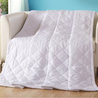 Wholesale hotel quilts - Wholesale- FG380 Hotel&Home washable white air-conditioning summer suitable double single thin quilts comforter Specials